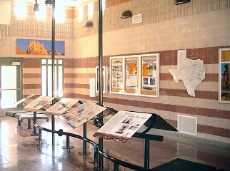 Interpretive displays inside lobby area