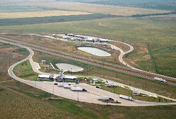 Aerial view of the new Hardeman County Safety Rest Areas
