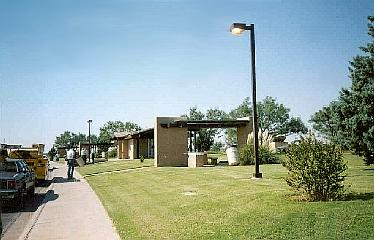 View of Haskell County rest area