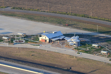 Aerial view of the new Hill County Safety Rest Area