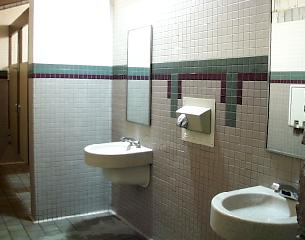 View inside a restroom