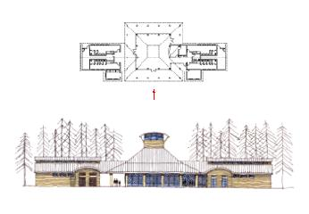 Architect's sketch of the new facility
