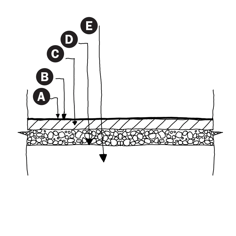 Pavement Detail illustration