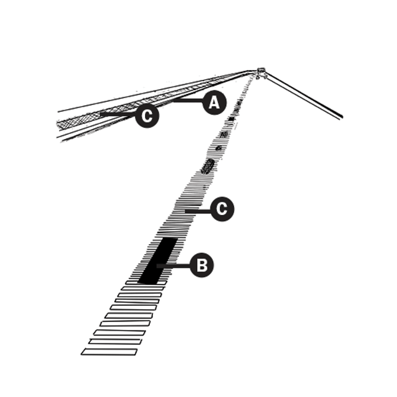Shoulder and center line rumble strips illustration