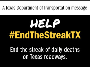 A Texas Department of Transportation (TxDOT) message