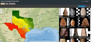 Texas Archeological Points Map