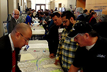 Attendees of the public meeting in El Paso for the I-10 Connect Project, Jan. 21, 2016.