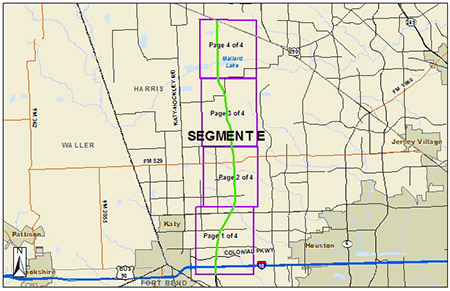 Segment E - I-10 West to US 290 on harris county road map, katy tollway, fry rd to 290 map, katy freeway toll road, bissonnet and 59 south map, 99 tollway map, katy railroad map, 10 freeway map, katy park map,