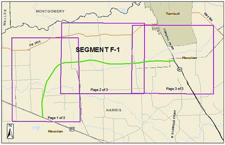 Map of Grand Parkway Segment F-1