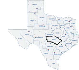 Austin District County Map
