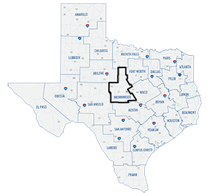 Brownwood District County Map