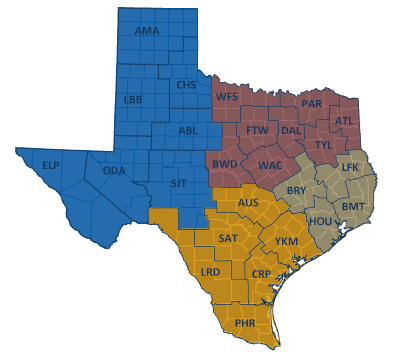 Texas District Map