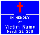 In memory of Victim Name. March 28, 2011.