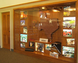 Travel Information Center display case