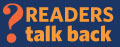 reader's talk back