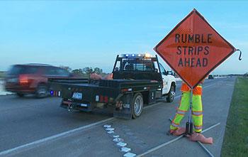 Austin enterprises rumble strip that interrupt