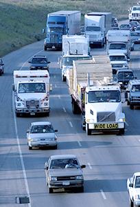 Trucks on IH-35